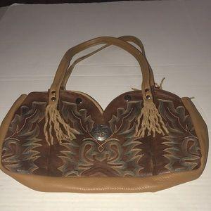 15f3e672b2db Genuine leather cowboy boot bag